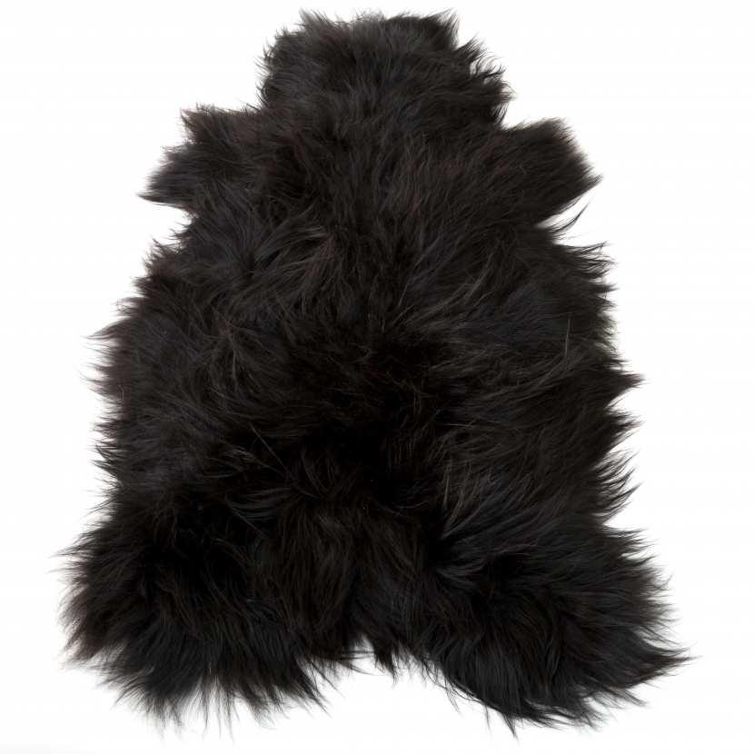 peau de mouton islandaise noire naturelle poils longs tapis d co. Black Bedroom Furniture Sets. Home Design Ideas