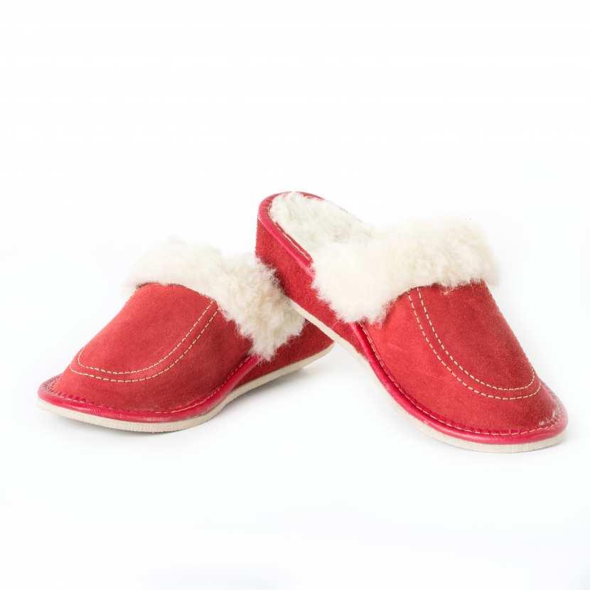 pantoufles mules fourr es femme cuir de vachette int rieur laine. Black Bedroom Furniture Sets. Home Design Ideas