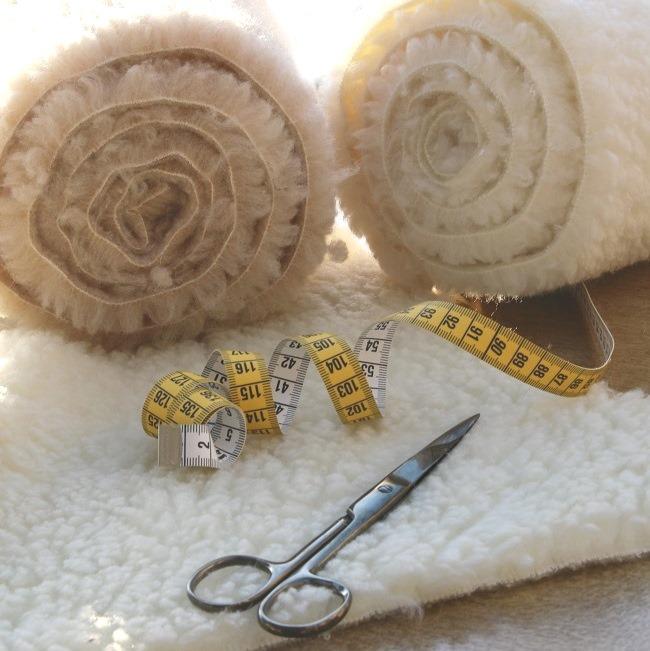 laine à la découpe rouleau tissus